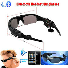 Sports Wireless Bluetooth Headset Headphone Earphone Polarized Sunglasses +Mp3
