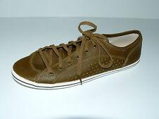 BUFFALO Halbschuhe Sneaker Schnürer Damen 41 UK 7,5 braun oliv weich flach NEU