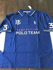 New Polo Ralph Lauren Big and Tall Black Watch Polo Shirt 3XLT 3XT 3LT Navy Blue