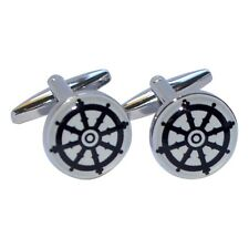 Buddhist Wheel of Dharma Design Round Cufflinks X2BOC187