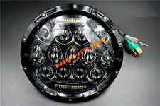 For Jeep Wrangler JK LJ CJ 7 Inch 75W LED Headlight w/ Driving Fog Lights Black