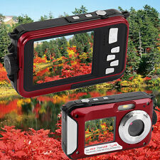 16MP WATERPROOF DIGITAL CAMERA & 1080 VIDEO With DUAL SCREENS  WPROOF TO 10 FEET