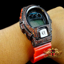 Men New DW6900 Authentic Real Casio G Shock+Custom Red Diamond Simulate Watch