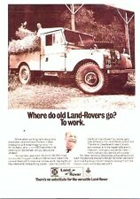 """Land Rover Series 1 107"""" - Modern postcard by Vintage Ad Gallery"""