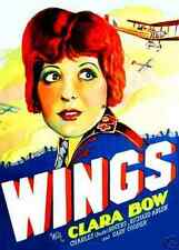 WINGS,,1927 CLASSIC, STARS,  CLARA BOW, GARY COOPER, CHARLES 'BUDDY' RODGERS