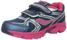 Saucony Cohesion 6 Girls Velcro Sneakers NavyPink/Silver Childs Size 11 Wide