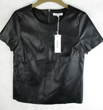 Glamourous Ladies Black PU Top - Party Wear - Size UK 8  BNWT