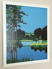 """GOLF I - 1985, Mike Vaughan-telaio 20"""" x16"""" - POSTER GOLF, GOLF POSTER"""