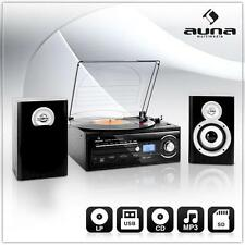 ALL-IN-ONE HIFI STEREO ANLAGE USB SD MP3 CD PLAYER TAPEDECK PLATTENSPIELER RADIO