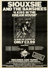 "6/11/82PGN18 ALBUM ADVERT 15X11"" SIOUXSIE AND THE BANSHEES : A KISS IN THE DREAM"