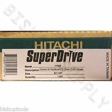 Hitachi 17502 1000ct SuperDrive Cement & Hardboard to Steel Screws NEW Durock