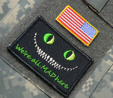 AFSOC PEDRO PJ DUSTOFF PARARESCUE SSI: Cheshire Cat We're All Mad Here + US Flag