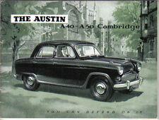 Austin A40 & A50 Cambridge Saloon 1954-55 Original Sales Brochure  No. 1134/A