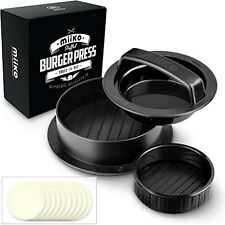 Stuffed Burger Press With 20 FREE Burger Patty Papers - 3 In 1 Burger Press / /