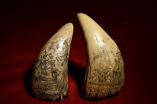 "faux scrimshaw  ""Lake Errie & Adventure""  sold as matching pair.  Quality items!"