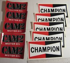 LOT Vintage Automotive Decals Champion Cam2 Nascar Racing 1970's