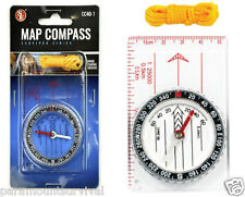 Pocket Map Compass W/ Ruler and Lanyard Perfect for Survival Packs