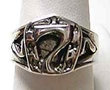 Lucky Number 7 Horse shoe Sterling Silver Ring Jewelry