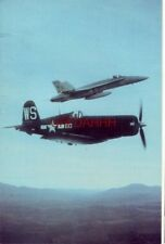Planes of Fame Air Museum's VOUGHT F4U-1 CORSAIR & U.S. MARINE F-18A over Chino