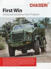 CHAISERI FIRST WIN 2013 4x4 THAI ARMY MILITARY BROCHURE PROSPEKT FOLDER DEPLIANT