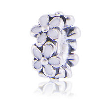 Genuine Pandora Darling Daisies White Enamel Spacer Charm 791495EN12 Authentic
