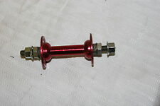 Joy Tech Front Hub 36h Red Bolt On Steel 5/16 x 90mm axle New HB31