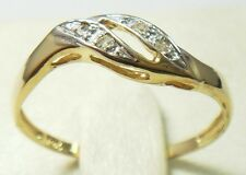 STUNNING 10KT SOLID YELLOW GOLD 4 DIAMONDS RING SIZE 7 R1389