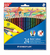 24 PACK STAEDTLER NORIS COLOUR ART HEXAGONAL ECO COLOURING COLOURED PENCILS NEW