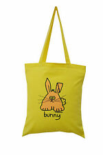 NEW TOTE BAG: BUNNY, Lemon, 100% cotton