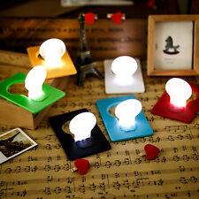 5PCS Mini Wallet Pocket Credit Card Size Foldable LED Nights Light Lamp Bulbs UK
