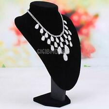 Black Mannequin Necklace Jewelry Pendant Display Stand Bust Holder Show