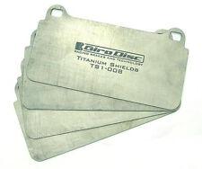 Girodisc Front Titanium Pad Shields for Porsche 996 Turbo/C4S, 997 C2S/C4S