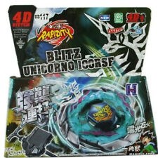 Blitz Unicorno Striker 4D Top Metal Fusion Fight Fury Beyblade Master + Launcher