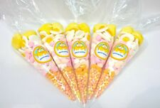 Pre Filled Easter Chick Sweet Cone 100 grams - Free Personalised Labels - Gifts