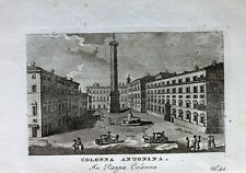 Antoninus Pius Säule Roma Rom Piazza Colonna Antike Brunnen Fountain Kutsche