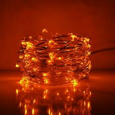 LED Fairy Lights- 33 Foot, 100 Micro LED Lights on Copper Wire With Plug