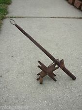 ANTIQUE ICE FISHING POLE WOOD VINTAGE UNMARKED RARE