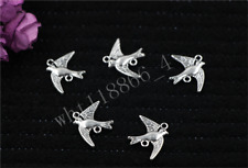 Antique Silver Beautiful birds Jewelry Charms Connector Findings 16x22mm