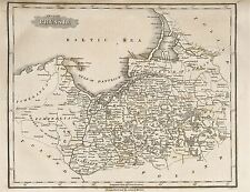 MAP REPRO ANTIQUE MORSE PART OF PRUSSIA LARGE ART PRINT LF903