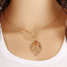 Latest Hollywood style Hollow out Gold Leaf Pendant in choker 1-layer neck chain