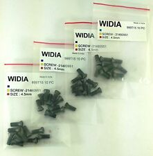 LOT OF 40 TORX SCREWS WIDIA M4.5X12mm SCREW FOR INDEXABLE INSERT