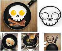 New Novelty Skull Fried Egg Frying Mould ABS Silicone Halloween Egg Pancake Ring