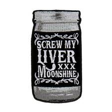 Screw My Liver EMBROIDERED 4 INCH IRON ON MC BIKER  PATCH