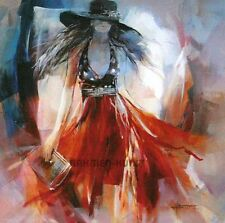 Willem Haenraets: Summerdress I Mädchen Mode FertigBild 30x30 Wandbild Fashion