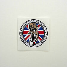 "Vintage ""british Ligue des courses cyclistes"" frame decal reproduction"