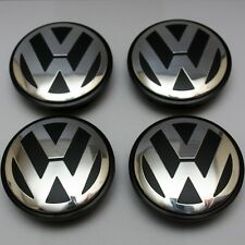 Set Of 4 VOLKSWAGEN VW FITS MOST MODELS 65MM ALLOY WHEEL CENTRE CAPS