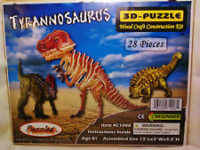 "3D PRE-COLORED WOOD PUZZLE ""TYRANNOSAURUS"" BY PUZZLED"
