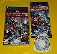 MARVEL LA GRANDE ALLEANZA 2 - Sony PSP - Versione Italiana ○○ COMPLETO - AP
