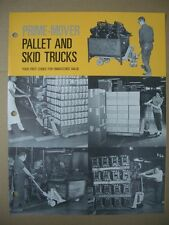 Original Vintage Prime-Mover Pallet and Skid trucks Flyer