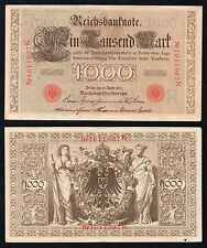 1000 mark Reichsbanknote Germany 1910  qSPL/XF-